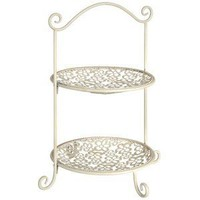 2 tier metal cup cake stand