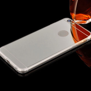 Luxury Silver Mirrored Case For iPhone 5 5s 6 6s 7 Plus