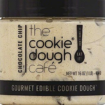 The Cookie Dough Cafe Gourmet Edible Cookie Dough, Chocolate Chip, 16 Ounce (Pack of 8)