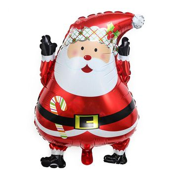 45 x 63cm New Aluminum Santa Claus Foil Balloons Wedding Party Ornament Supplies New Year Xmas Gifts Merry Christmas Decors