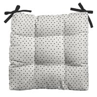 Allyson Johnson Tiny Polka Dots Outdoor Seat Cushion