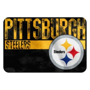 Pittsburgh Steelers NFL Worn Out Bath Mat