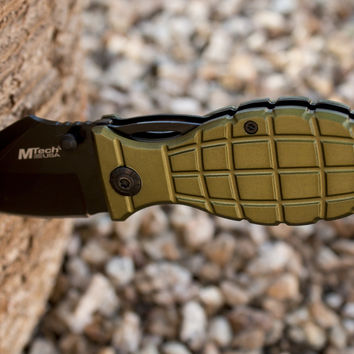 "Best Grenade Folding Pocket Knife - Special ""Military"" Edition"