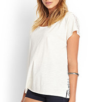 FOREVER 21 Boxy Open-Knit Tee