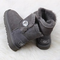 UGG Cute Women Wool Fur  Short Boots  Flats
