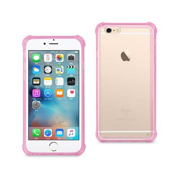 iPhone 6S/ 6 Clear Bumper Case With Air Cushion Protection (Clear Hot Pink)