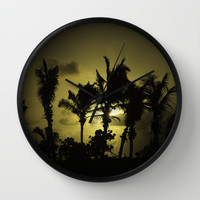 Sunset in Tropics Wall Clock by Zina Zinchik
