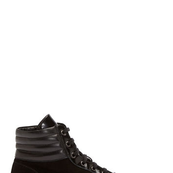 Common Projects Black Suede Achilles Premium High-top Sneakers