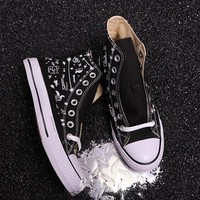hcxx Converse x BT21 Hight Canvas Skate Shoes Black