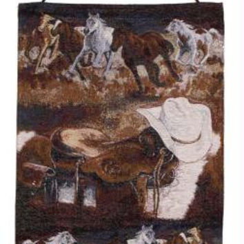Hanging Tapestry - Rushing Horses