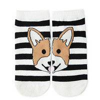 Striped Fox Face Socks