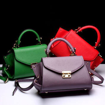 Leather Women Messenger Bags Handbag Satchel Bag Shoulder Bags Top-Handle Bags