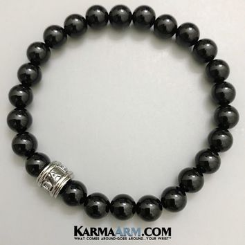 FATHER'S LOVE: Black Onyx | DAD | Yoga Chakra Bracelet