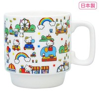 Hello Kitty Stacking Mug Cup Amusement Park Sanrio Japan - VeryGoods.JP