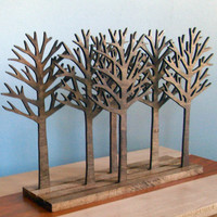 Forest Wood Sculpture Art Rustic Home Decor