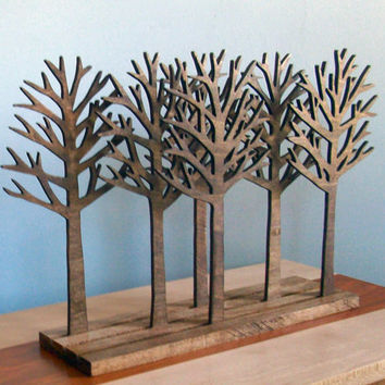 Tree Forest Sculpture Art Wood Rustic Home Decor