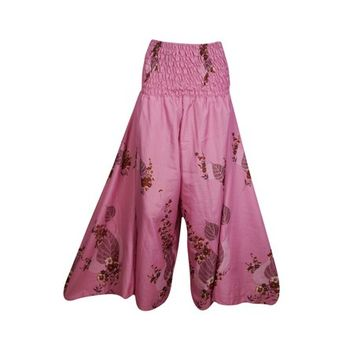 Mogul Bohemian Women High Waist Wide Leg Long Skirt Pants Recycled Silk Sari Flared Flirty Boho Chic Maxi Split Skirts S/M - Walmart.com