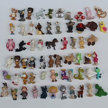 5PCS Cartoon Plastic Cute Mini Animal Model Every Kind Animals Dolls Lovely Design Bear Dog Kids Children Toy ASB33