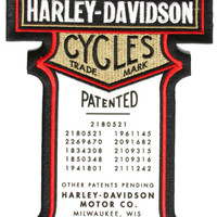Harley Davidson Patented Large Motorcycle Patch
