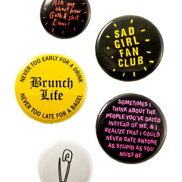 Tough Guys + Tougher Girls Button Set