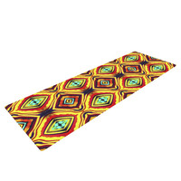 "Anne LaBrie ""Diamond Light"" Yellow Red Yoga Mat"