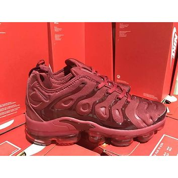 Nike 2018 TN Air Vapormax Plus Vascular Wine Red Gradient Shoe 40-45
