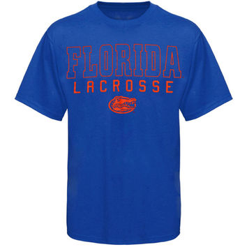 Florida Gators Frame Lacrosse T-Shirt - Royal Blue
