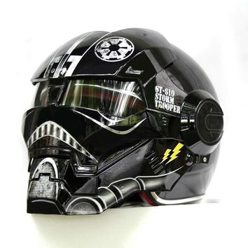 MASEI Iron Man Star Wars ABS Half Open Face DOT Approved Motorcycle Helmet