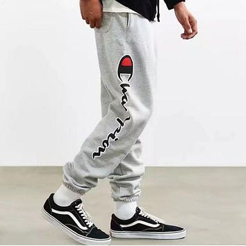 """Champion"" Women Men Fashion Print Sport Stretch Pants Trousers Sweatpants I"