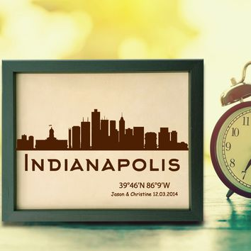 Lik363 Leather Engraved Wedding Third Anniversary indianapolis Longitude Latitude personalized gift place wedding date wedding names