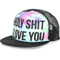 Jac Vanek Holy Shit I Love You Tie Dye Trucker Hat