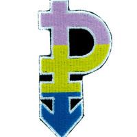 Pansexual Symbol Gender Equality Patch Iron on Applique Alternative Clothing