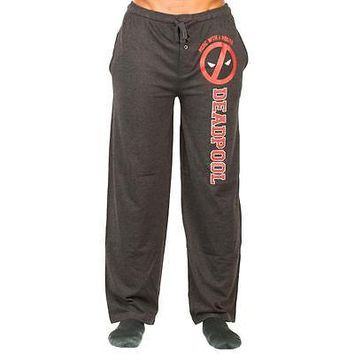Deadpool Merc With A Mouth Sleep Pants Black