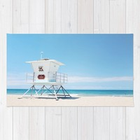Lifeguard tower Carlsbad 35 Rug by sylviacookphotography