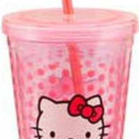 Hello Kitty - 18 oz. Pink Plastic Travel Cup