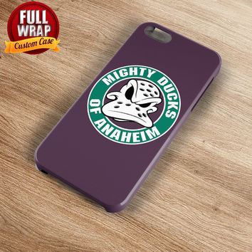 Anaheim Ducks Purple Logo HockeyTeam Full Wrap Phone Case For iPhone, iPod, Samsung, Sony, HTC, Nexus, LG, and Blackberry