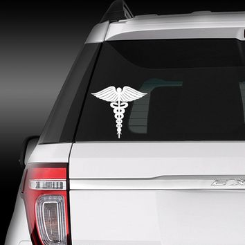 Medical Caduceus Symbol- vinyl decal sticker
