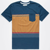 Billabong Spinner Mens Pocket Tee Marine  In Sizes
