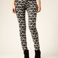 Abstract Printed Super Skinny Jeans