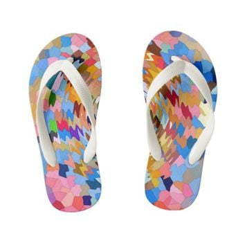 FUNKY RIPPLES KID'S FLIP FLOPS