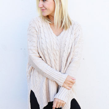 Cable Knit Sweater {Cream}