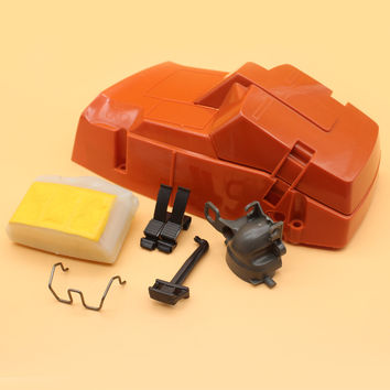 Top Cylinder Air Filter Cover W/ Intake Manifold Choke Lever Kit For HUSQVARNA 362 365 371 372 XP Chainsaw