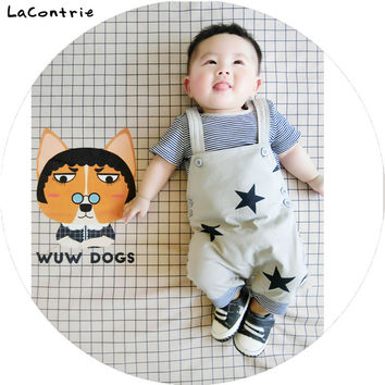 Safety Cosy Lacontrie Korean Clothing for babies boy baby girl newborns Kids' things Clothes T-shirt + Overalls