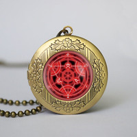 Full Metal Alchemist Fullmetal Alchemist Transmutation circle vintage pendant locket necklace