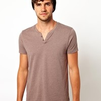 ASOS T-Shirt With Notch Neck at asos.com