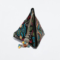 PYRAMID HAND EMBROIDERY WALLET