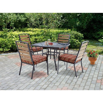 Mainstays Jackson Meadows 5-Piece Endurowood Patio Dining Set, Seats 4