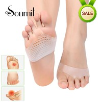 Soumi Medical Honeycomb Silicone Gel Anti-slip Forefoot Half Yard Insoles for High heel Shoes Sore Pain Relief Toes Pads Insoles