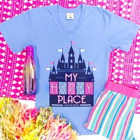 Happy Place (Periwinkle) - Short Sleeve