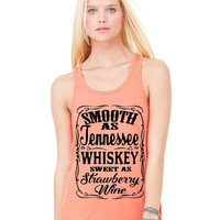 Smooth as Tennessee Whiskey Sweet as Strawberry Wine Tank Top